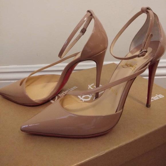 5d0b24e519 Christian Louboutin Shoes | Authentic Fliketta Nude Pumps | Poshmark